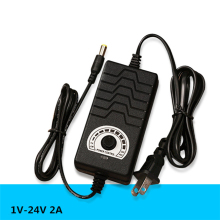Hot sale 50 PCS/LOT Universal power adapter Adjustable DC 1V-24V 2A Multiple protection features Regulated supply adatpor