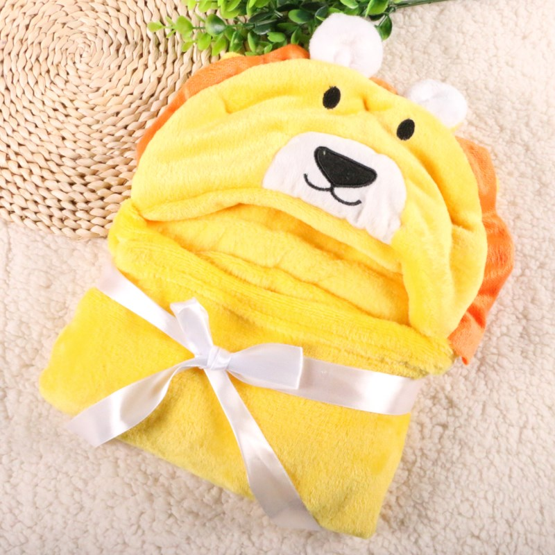 High Quality Wholesale Newborn Baby Hooded Blanket Animal Shapes Cloak Lovely Soft Towels Blankets
