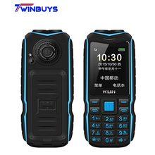 KUH T3 2,4 дюймов внешний аккумулятор телефон две sim-карты камера MP3 двойной фонарик большой голос Прочный противоударный дешевый мобильный телефон