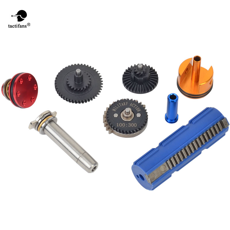 Tactifans 100:300 Super High Speed Gear 15 Teeth Piston Cylinder Piston Head Spring Guide Nozzle Full tune up kit for G36 цена