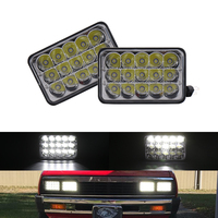 4x6 Car Led Headlight Square Light Sealed High/Low Beam Replacement Headlamp Kits For Ford Trunks Offroad For Kenworth T800 T400