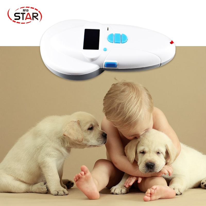 OLED Display Rechargeable Animal Microchip Scanner Rfid Pet Microchip Reader 134.2khz/125KHz ISO FDX-B/FDX-A/ HDX For Dogs Fish
