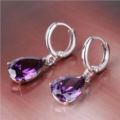 Aliexpress.com : Buy New Fashion Crystal Purple Water Drop ...