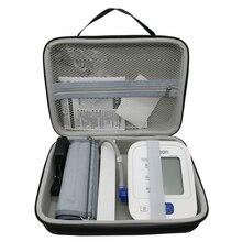 Mais novo saco de armazenamento viagem eva capa caso para omron 10 series sem fio braço superior monitor pressão arterial (bp786/bp785n/bp791it)