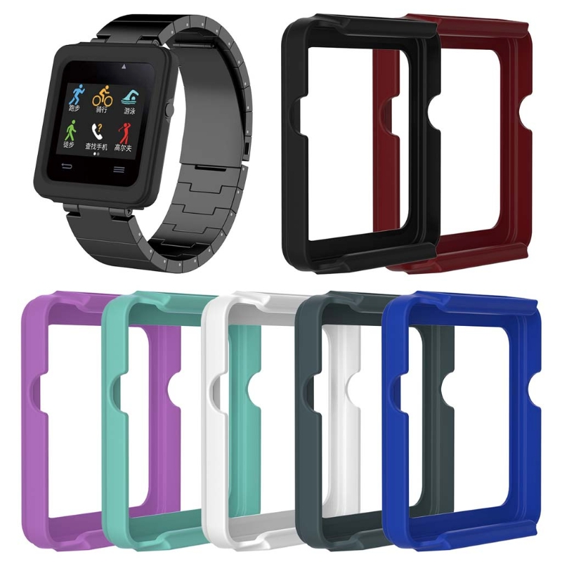 OOTDTY Silicone Protective Case Cover Frame Shell Replacement For Garmin Vivoactive Smart Watch Case Smart Accessories