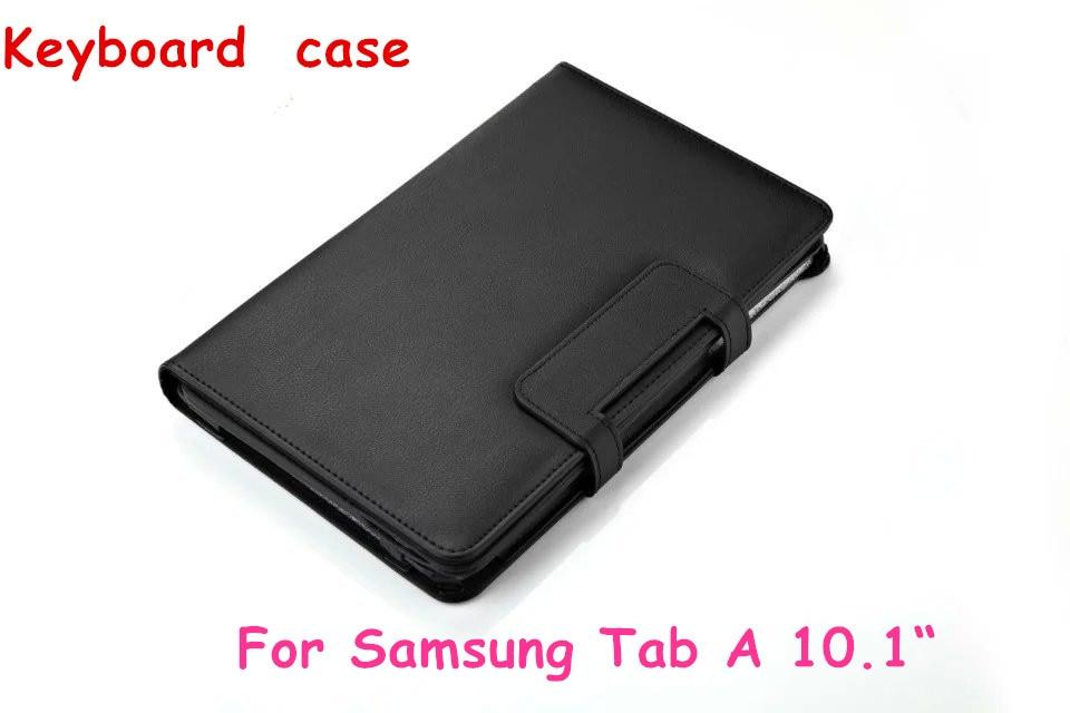 For Samsung Galaxy Tab A 10.1 2016 T585 T580 Tablet Detachable Bluetooth Keyboard Portfolio Folio Slim PU Leather Case Cover