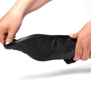 Image 3 - EOFK/летние мужские сандалии из натуральной кожи; Новый дизайн; Модные повседневные Черные сандалии без застежки; Кожаные Вьетнамки; Мужские туфли на плоской резиновой подошве