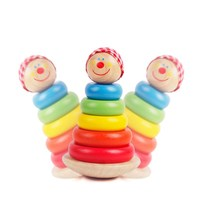 MamimamiHome Baby Wooden Rattles Wooden Tumbler Toys For Newborns Baby Early Education Multicolor Montessori Toys