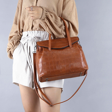 RANYUE High Quality Genuine Leather Bag Ladies Stone Pattern Women Messenger Bags Handbags Women Famous Brand Designer 2018