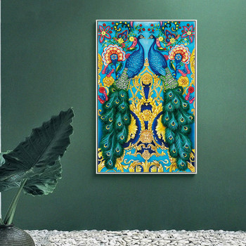 Diy 5d Sale Diamond Embroidery, Diamond Mosaic, Special Shaped, Peacock, Diamond Painting, Cross Stitch,3d, Decoration, Gift фото