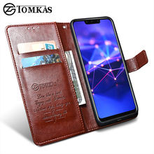 TOMKAS Luruxy Flip Case for Huawei Mate 20 Lite 360 Protect Wallet Phone Back Cover Silicon+Leather Case for Huawei Mate 20 Lite(China)