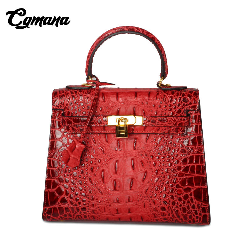 Luxury Brand Genuine Leather Crocodile Bags 2018 Luxury Handbag Women Bags Designer Shoulder Bag Women