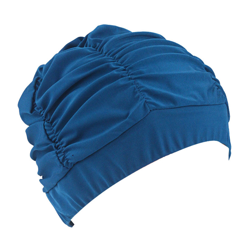 dfa82115b5b Unisex Swimming Caps Hat for Long Hair Soft Bathing Hat Summer Beach Swim  Cap Stretch Drape for Men & Women Adults #3j05-in Swimming Caps from Sports  ...