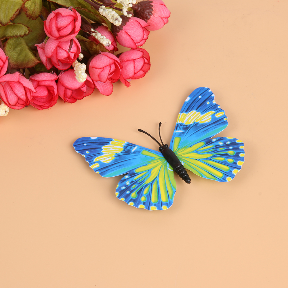 12pcs Fashion 3D Double Wings Butterfly Wall Stickers Home DIY Decor ...