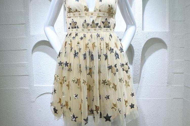 HTB1eAadPFXXXXceaXXXq6xXFXXXC - Summer Dress  Star Beads Jacobs Deep V JKP064