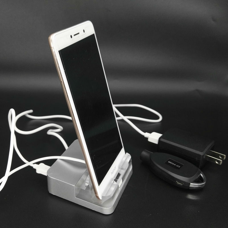 Vertical Acrylic Mobile Phone Holder Cell Phone Alarm sistem Cellphone Store Anti-theft for Huawei OPPO Iphone Vivo Xiaomi wholesale price mobile phone anti theft alarm display stand with charging for exhibition