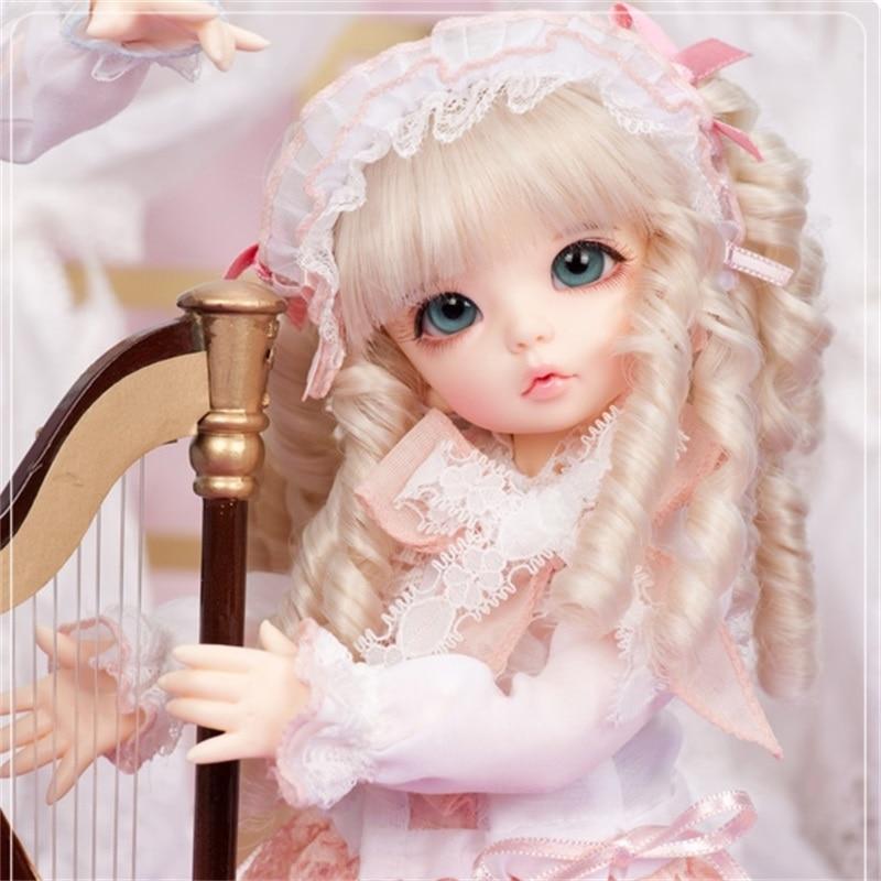 O Envio gratuito de Bonecas BJD Fairyland Littlefee Ante fullset 1/6 26cm linachouchou luts yosd espírito elf Resina bluefairy lance lati