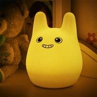 USB Sạc Đầy Màu Sắc Silicone Dễ Thương Mèo Night Light Trẻ Em Đồ Chơi Phòng Ngủ Đèn Bàn Cạnh Giường Ngủ Sinh Nhật Quà Tặng Cho Bạn Bè