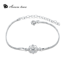 Bracele for Women 925 Silver 18K Gold White Plated Bangles Crystal Stone Fashion Jewelry Female Anniversary Bracelets Gift