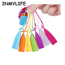 INMYLIFE 10pcs/lot Food-grade Silicone Tea Bags Colorful Strainers Herbal Infusers Scented Filter Tools Random Color