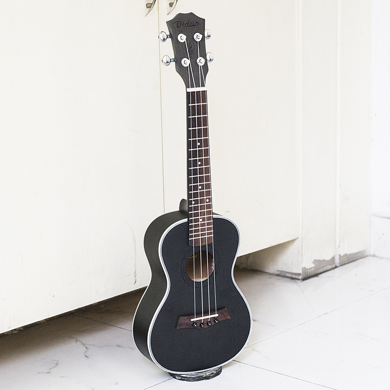 Acoustic Electric Concert Ukulele 23 Inch Hawaiian Guitar 4 Strings Ukelele Guitarra Mahogany Handcraft Green Black Musical Uke concert ukulele 23 inch hawaiian guitar 4 strings ukelele guitarra handcraft zebra wood musical instruments uke
