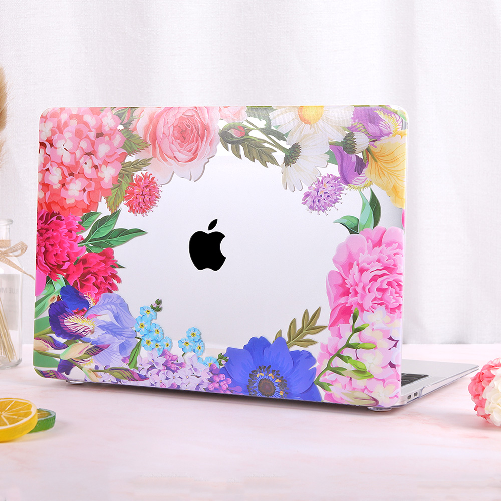 Redlai Colorful Flowers Case for MacBook 29