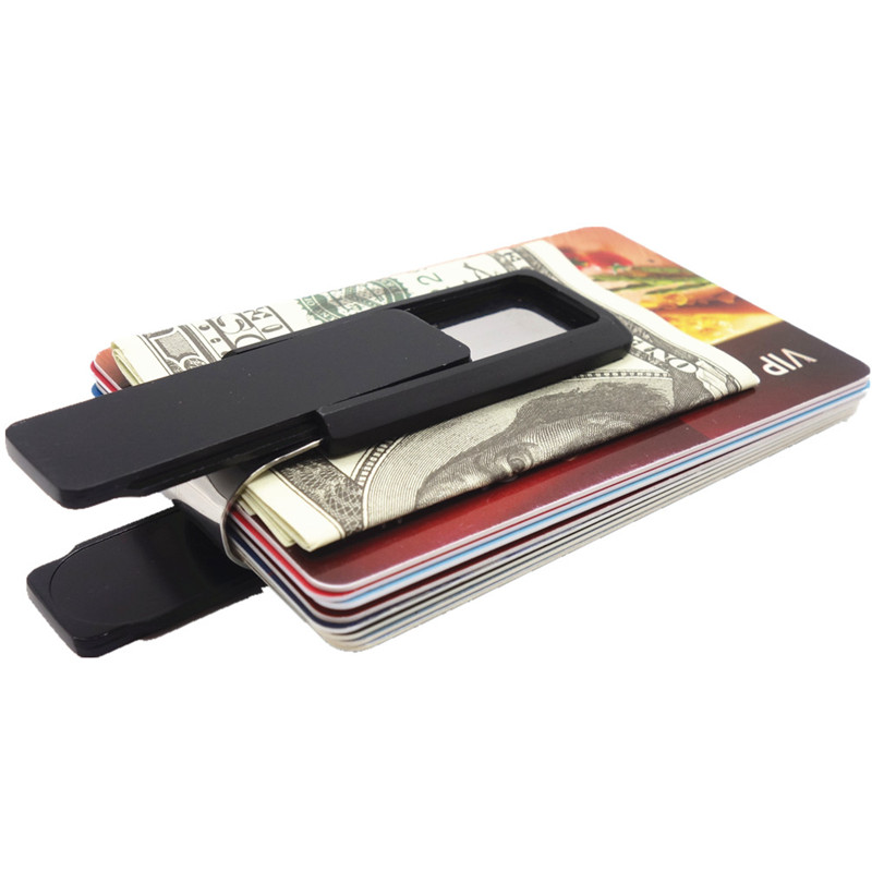Stainless Steel Slim Money Clip Wallet Credit Card Case Business ...