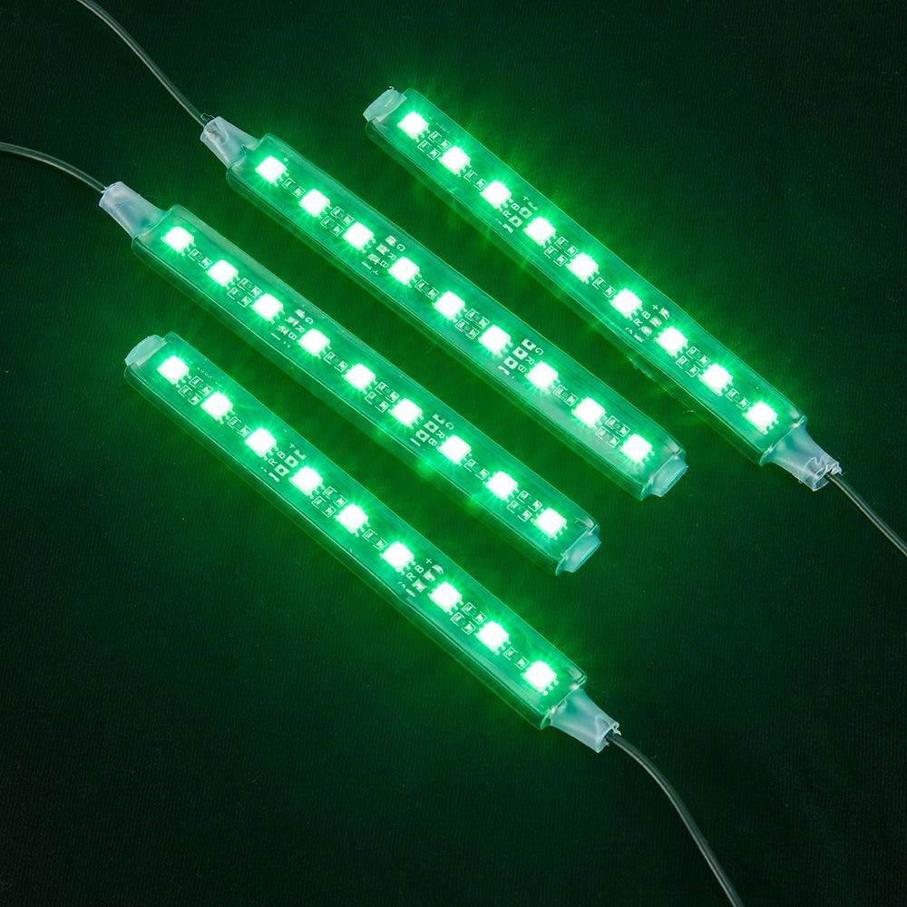 2017 4x12 LED 7 գույներով Led Car Atmosphere Light - Ավտոմեքենայի լույսեր - Լուսանկար 5
