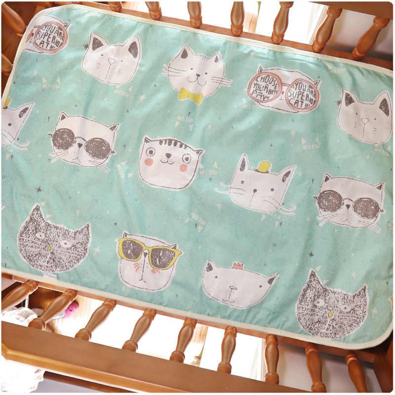 Almohadilla de orina impermeable para bebés de 4 tamaños, almohadilla de orina, almohadilla de orina reutilizable de dibujos animados, ropa de cama infantil, almohadilla de cambio de colchón