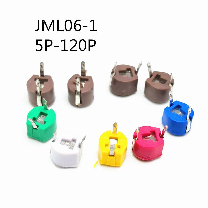 20Pcs/lot Original JML06-1-20P 20pf 6mm JML06-1 DIP Trimmer Adjustable Capacitor  5P 10P 20P 30P 40P 50P 60P 70P 120P