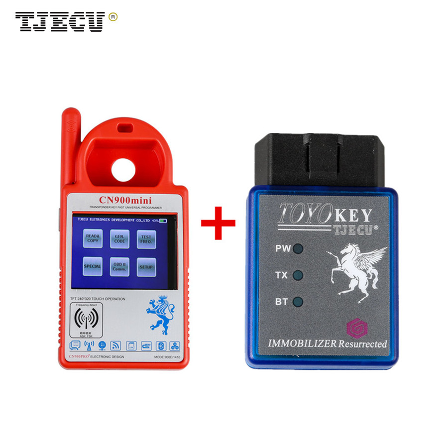 Mini CN900 Transponder Key Programmer Plus TOYO Key OBD II Key Pro for 4C 46 4D 48 G H Chips for toyota g and for toyota h chip vehicle obd remote control key programmer smart transponder key maker with power switch