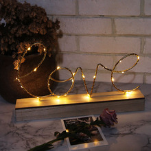 Fairy Lights letter LOVE Lamp Decor Anniversary Decoration Lights Battery Powered Party Holiday Decoration Home LED light