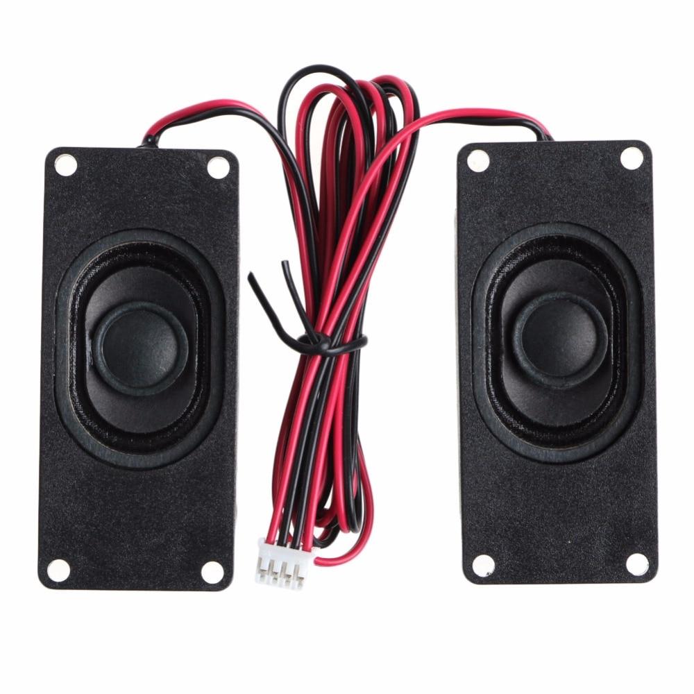 1Pair 3W 4 Ohm 3070 Advertising LCD TV Speakers Loudspeaker Rectangle Speaker - L060 New Hot