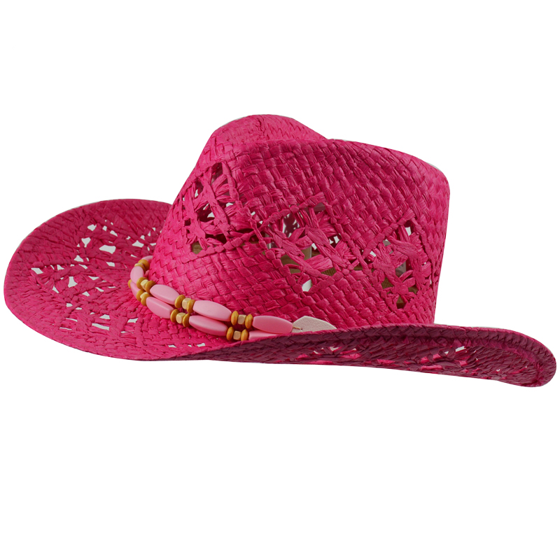 Women s Cowboy Hats Big Red Adult Straw Hats Summer Fashion Cowboy ... 618388b1708