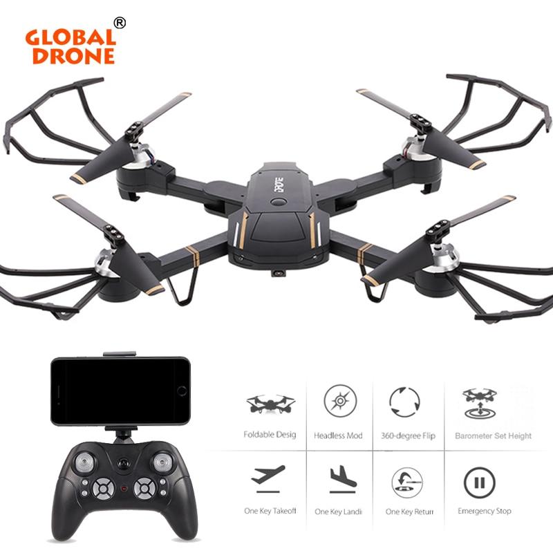 Global Drone Profissional Altitude Hold RC Dron One Key Return Quadrocopter Wifi FPV Drone with Camera HD VS E58 VISUO XS809HW