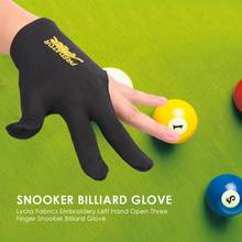 Snooker Billiard Cue Glove Spandex Left Hand Open Three Finger Glove Accessory for Unisex Lycra Fabrics Embroidery Wholesale(China)