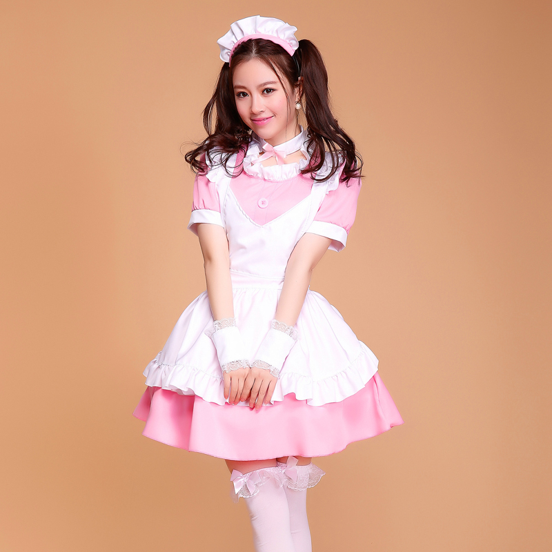 SEEDRULIA Womens Halloween Custume Maid French Cosplay Lolita Fency Costume ...