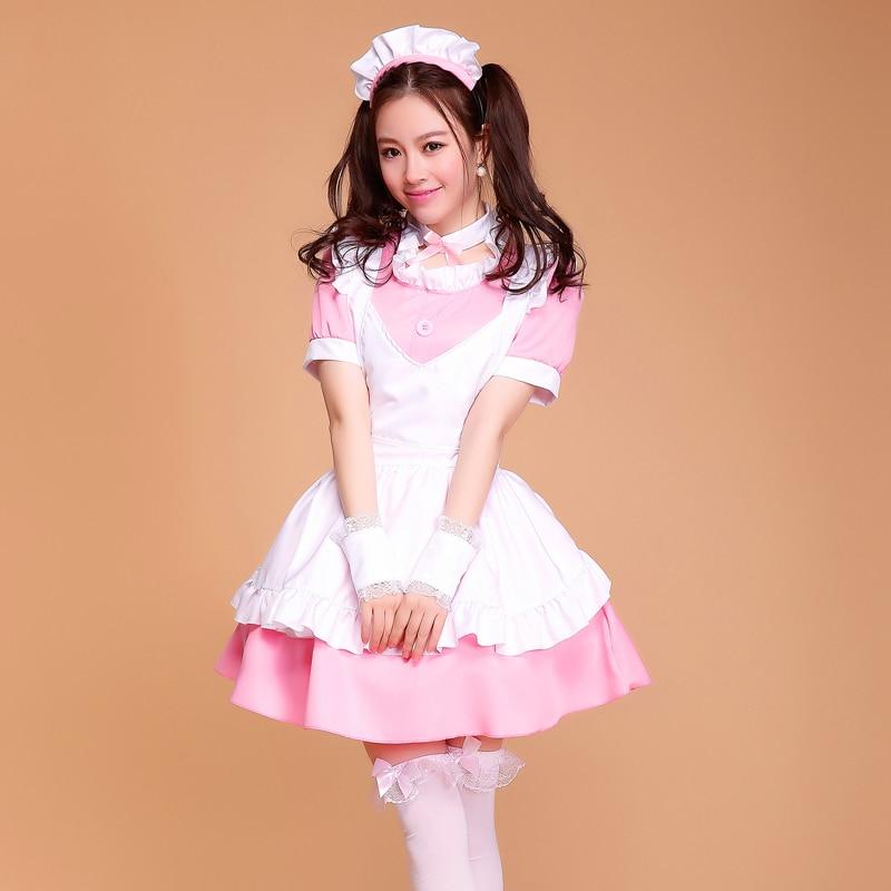SEEDRULIA Womens Halloween Custume Maid French Cosplay Lolita Fency Costume