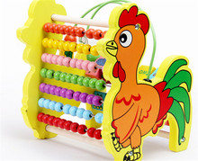 New wooden toy Color box  colorful abacus frame shelves are calculated baby free shipping