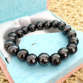 Newly hematite natural stone 12mm charms Iron ore jasper round beads diy high quality Bracelet 7.5 inches B318