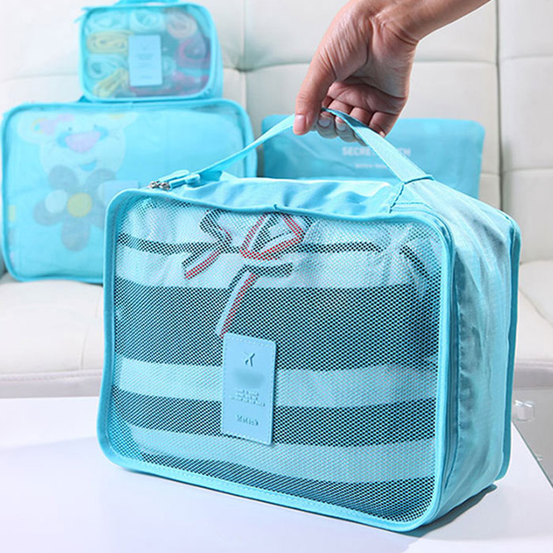 IUX νάυλον Συσκευασία Cube Travel Σύστημα τσάντα ανθεκτικό 6 κομμάτια που μεγάλη χωρητικότητα των τσαντών Unisex Ρουχισμός Ταξινόμηση Οργανώστε Χονδρικό