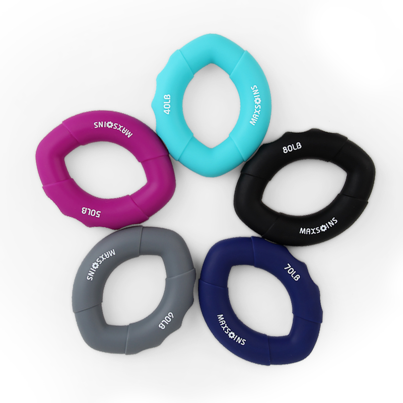 Hand Grips Muscle Power Training Rubber Ring Exerciser Finger Hand Grip Hand Gripper Gripping Ring Carpal Expander Fitness