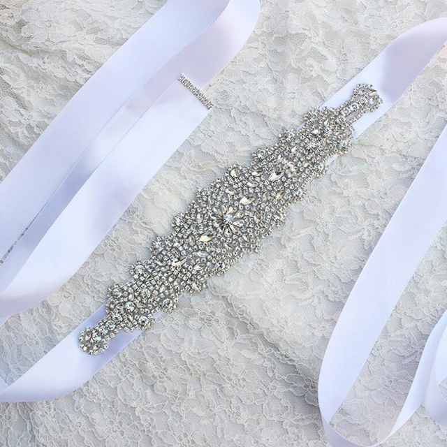 ZXW61 Crystals Wedding Belts and Sashes Rhinestone Bridal Dress Belt Prom Dress Belt 270cm