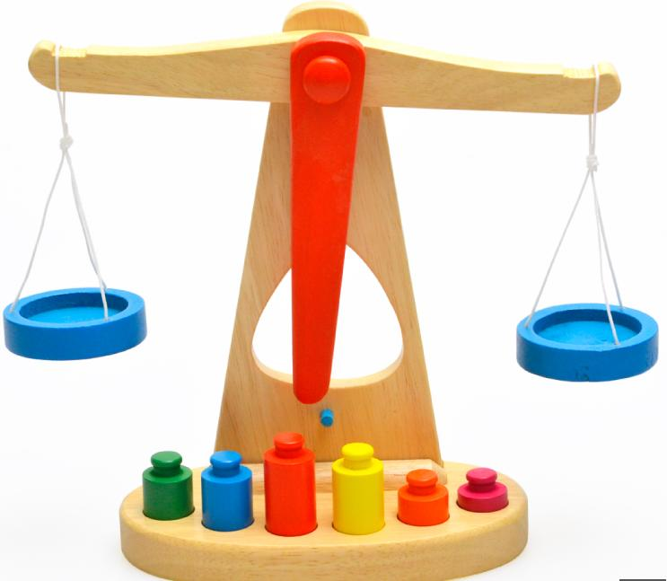 Free shipping, montessori teaching AIDS, wooden simulation equation to scales, children's toys,