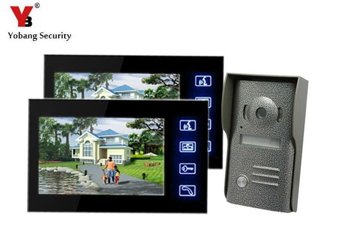 Yobang Security 7 Doorbell Metal Outdoor Camera Door Phone Doorphone For Villa Wall mounted Visual Doorbell Video Door Intercom yobang security video doorphone camera outdoor doorphone camera lcd monitor video door phone door intercom system doorbell
