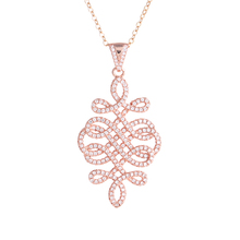 Zircon Chinese Knot Necklace