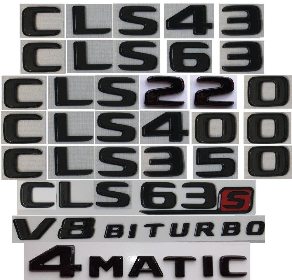 2018 Flat Chrome Letters Trunk Emblem Badge Sticker for Mercedes Benz CLS55 AMG