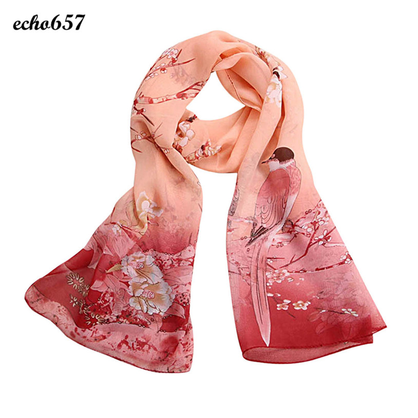 Echo657 Fashion Women Chiffon Soft Neck Scarf Shawl Scarves Stole Wraps Oct 26
