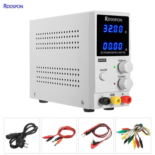 30v10a ajustável laboratório fonte de alimentação 4 bit display dc fonte de alimentação de carregamento reparação interruptor de alimentação regulador de tensão