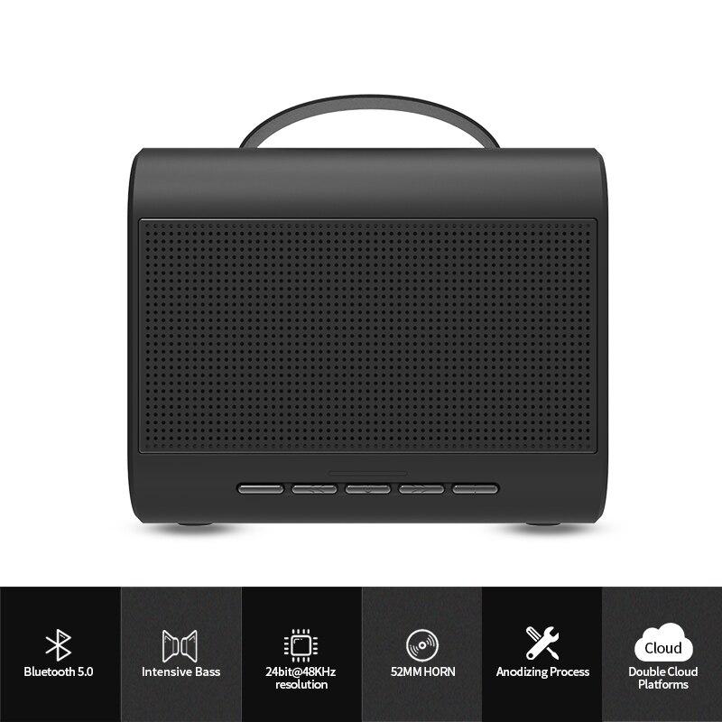 Bluedio T-Share2.0 Portable Mini haut-parleur Bluetooth sans fil 6 W haut-parleur système de son avec microphone support commande vocale